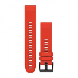 GARMIN QUICKFIT 22 WATCH BAND flame red silicone